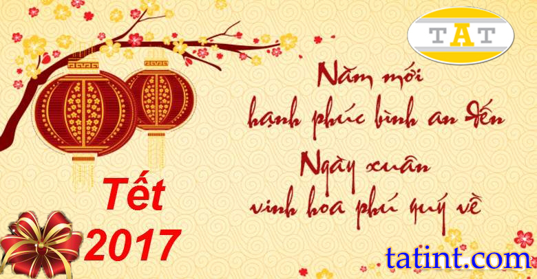 Happy New Year Letter and Notice of Time for Vietnamese New Year holidays of T.A.T International Company Limited