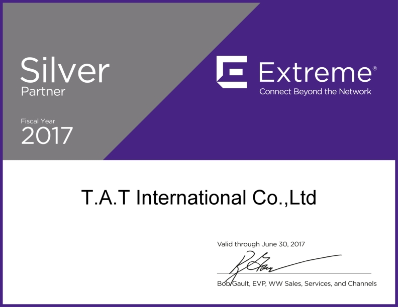 T.A.T INTERNATIONAL COMPANY LIMITED – THE NUMBER ONE PARTNER OF EXTREME NETWORKS IN VIETNAM